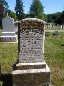 John Snyder gravestone Elmwood Cemetery