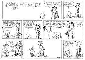 calvin and hobbes war