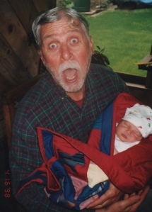 I can't believe more than 15 years have passed since this photo of my dad and my son was taken.