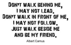 Don't walk behind me I may not lead