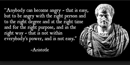 aristotle anger