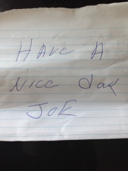note from Joe